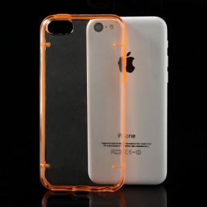 Orange for iPhone 5c Noctilucent Transparent PC & TPU Hybrid Back Case