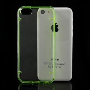 Green for iPhone 5c Noctilucent Transparent PC & TPU Hybrid Case