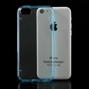 Blue for iPhone 5c Noctilucent Transparent PC & TPU Protective Hybrid Case