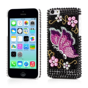 Colorful Butterfly Bling Rhinestone Case for iPhone 5c