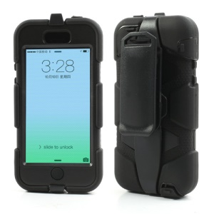 Superb Defender Hybrid Case for iPhone 5c with Belt Clip Holster - Black