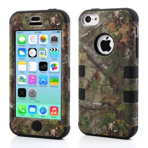 Black Tree Branch 3-Piece for iPhone 5c High Impact Combo Case