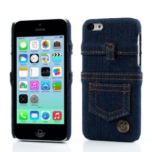 Blue Jeans Cloth Skin Protective Hard Case for iPhone 5c
