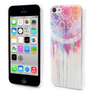 Circle Flower Embossing for iPhone 5c Plastic Hard Shell