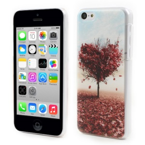 Embossing Slim for iPhone 5c Hard PC Case Heart Shaped Maple