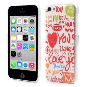 I LOVE YOU Scrawl Embossed Hard Cover Case for iPhone 5c