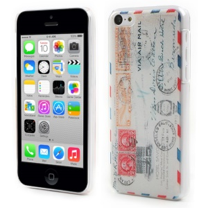 Air Mail Style Embossed PC Hard Cover for iPhone 5c