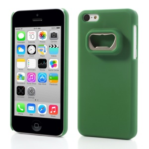 Bottle Opener Hard Plastic Cover for iPhone 5c - Green