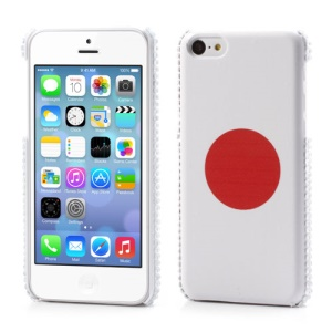 Japanese Flag Leather Coated Back Case for iPhone 5C