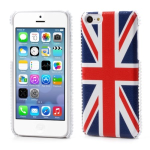 Union Jack Flag Leather Coated Back Shell for iPhone 5C
