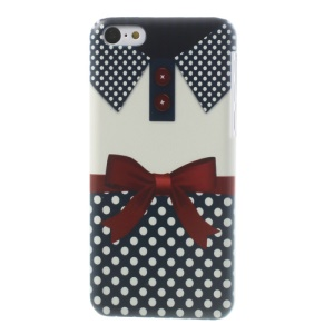 For iPhone 5c Polka Dots Shirt Plastic Skin Case