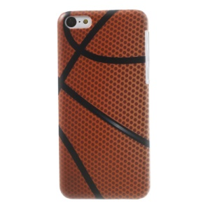For iPhone 5c Basketball Pattern Plastic Cover Case