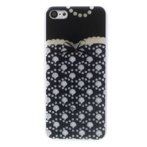 For iPhone 5c Embossed Beautiful Lace Pattern Crystal Hard Case