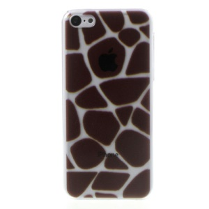 For iPhone 5c Relief Brown Spots Pattern Crystal Hard Cover