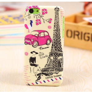 UMKU France Eiffel Tower & Mini Car Slim Hard PC Case for iPhone 5c
