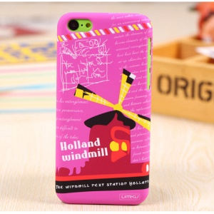 UMKU Holland Windmill Pattern Slim Hard PC Case for iPhone 5c
