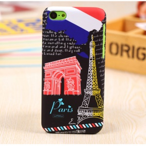 UMKU France Paris Triumphal Arch & Eiffel Tower Slim Hard Case for iPhone 5c