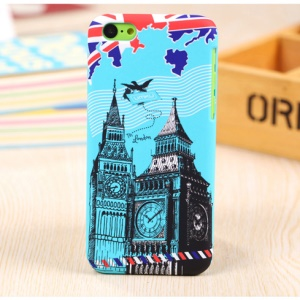 UMKU Britain Big Ben Rubberized Protective Hard Case for iPhone 5c