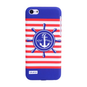 UMKU Ocean Style Red Stripe & The Titanic Helm Protective Hard PC Case for iPhone 5c