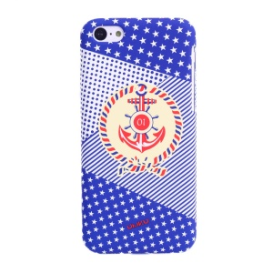 UMKU Ocean Style Stars Dots Stripes Mixed Anchor Pattern Hard PC Case for iPhone 5c