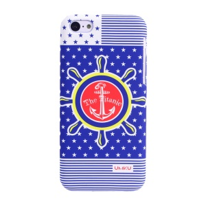 UMKU Ocean Style The Titanic Helm & Stars Pattern Hard PC Cover for iPhone 5c