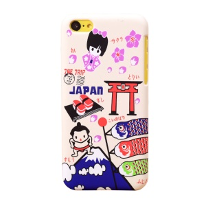 UMKU Japan Cartoon Tourism Sights Protective Hard Case for iPhone 5c