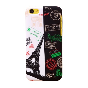UMKU Eiffel Tower & Air Mail Postmarks Hard Cover for iPhone 5c