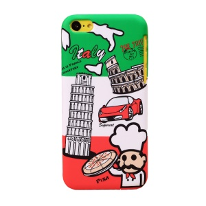 UMKU Italy The Leaning Tower of Pisa Pattern Durable Hard Cover for iPhone 5c
