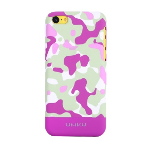 Rose UMKU Camouflage Design Protective Slim Hard Case for iPhone 5c
