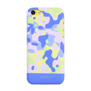Light Blue UMKU for iPhone 5c Camouflage Design Slim Hard Case