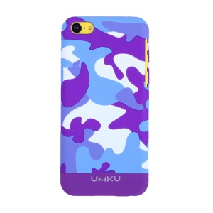 Dark Purple UMKU for iPhone 5c Camouflage Design Slim Hard Cover