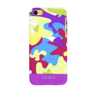 Light Purple UMKU for iPhone 5c Camouflage Design Slim Hard PC Shell