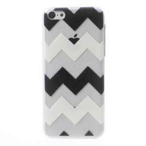 Wave Pattern Embossing Crystal Hard Back Case for iPhone 5c