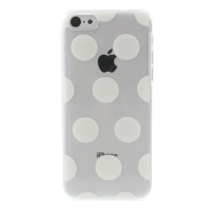 White Dots Pattern Embossing Crystal Hard Phone Shell for iPhone 5c