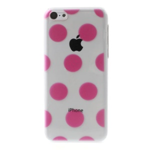 Rose Dots Pattern Embossing Crystal Plastic Back Shell for iPhone 5c