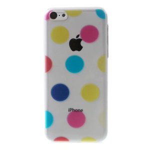 Colorful Dots Pattern for iPhone 5c Embossing Crystal Plastic Back Case