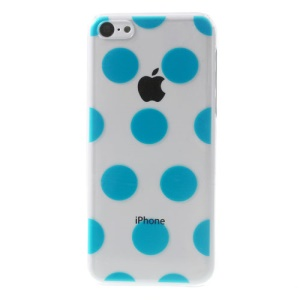 Blue Dots Pattern for iPhone 5c Embossing Crystal Hard Shield Case