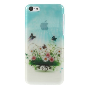 Flowers & Butterflies Glossy Brushed Hard Case for iPhone 5c