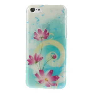 Glossy Brushed PC Shell for iPhone 5c Beautiful Blossoms Pattern