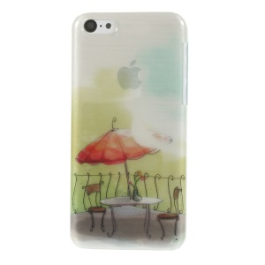 For iPhone 5c Outdoor Garden Dining Table Set Pattern PC Back Case