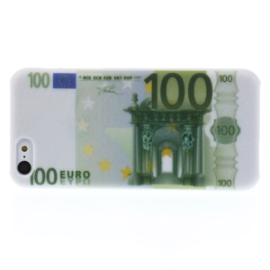 One Hundred Euros Pattern Protective Hard Case for iPhone 5c
