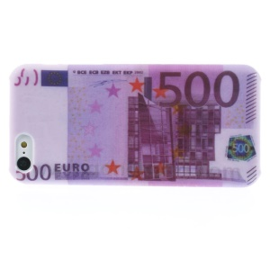 Five Hundred Euros Pattern Protective Hard Shell for iPhone 5c