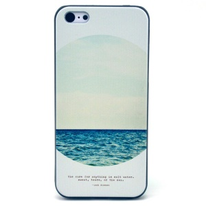 circle Sea Pattern Protective Hard Cover for iPhone 5c