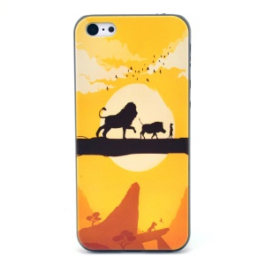 Lion Pig Sunset Protective Hard Cover for iPhone 5c