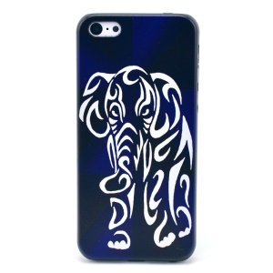 Elephant Pattern Hard Back Cover for iPhone 5c