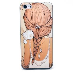 Long Back Hair Girl Hard Plastic Shell for iPhone 5c