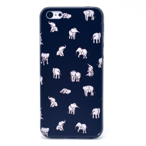 Elephants Pattern Hard Plastic Case for iPhone 5c