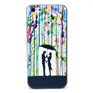 Lover under Umbrella Hard Plastic Cover for iPhone 5c