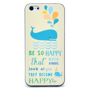 Quote BE SO HAPPY Hard Plastic Cover Shell for iPhone 5c