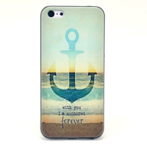 Anchor Pattern Hard Plastic Shell for iPhone 5c